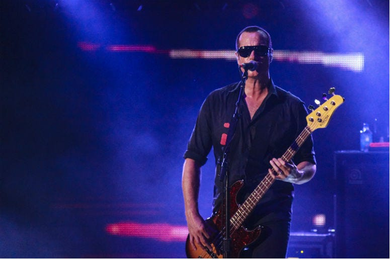 Robert Emile DeLeo band Stone Temple Pilots at a live show in California