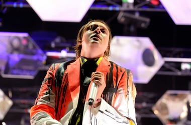 BARCELONA - MAY 29: Arcade Fire indie rock band performs at Heineken Primavera Sound 2014