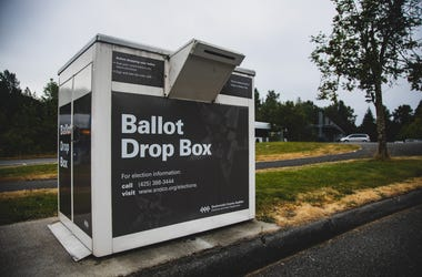 Voting Drop Box at McCollum Park, Everett, WA