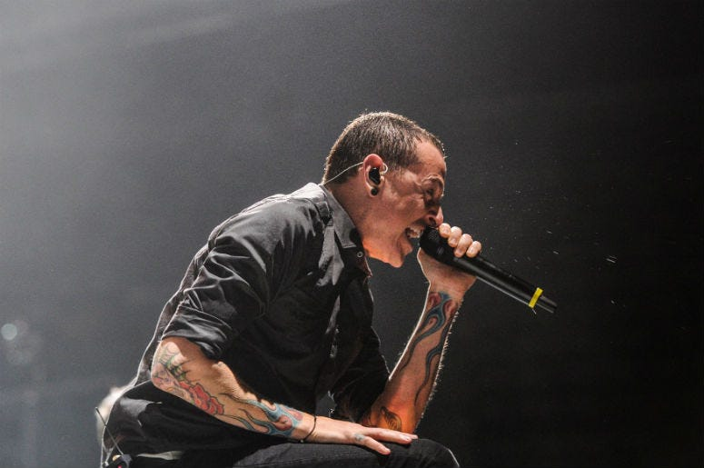 Chester Bennington performs in Sunrise, Florida.