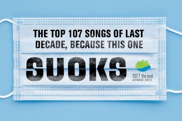 Top 107 songs of last decade
