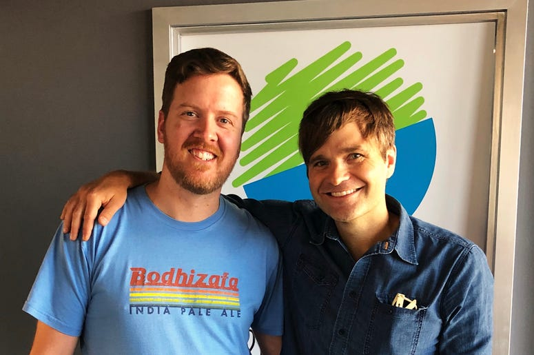 Gregr and Ben Gibbard of Death Cab For Cutie