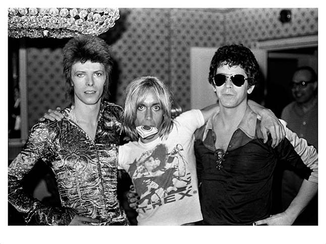 David Bowie Iggy Pop and Lou Reed - Mick Rock, 1972, 2016