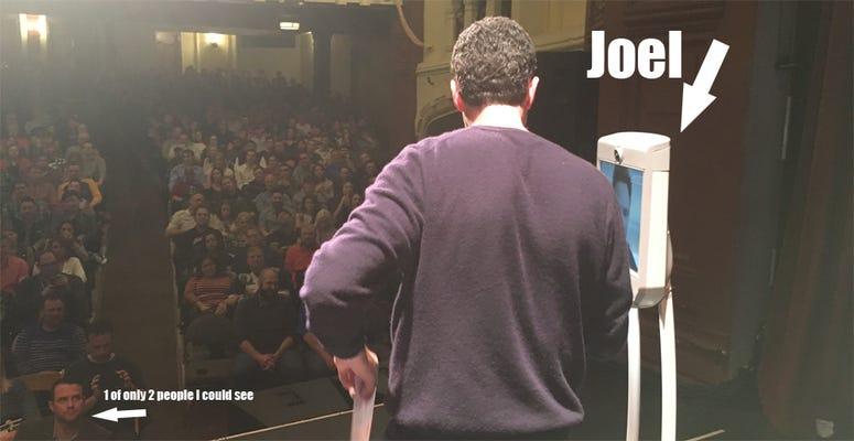 Joel McHale Bot on Stage