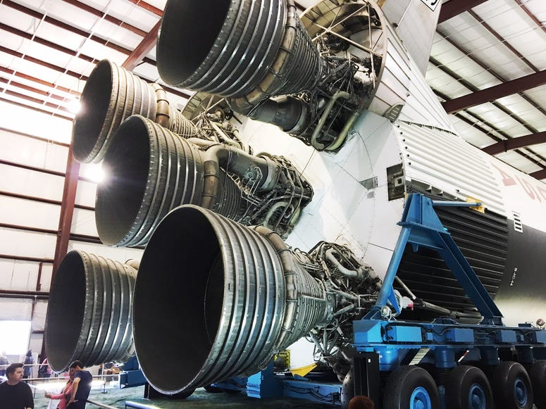 Saturn V: Taller than two stacked giraffes