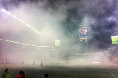 Perfect atmosphere for a Sounders FC Halloween match.
