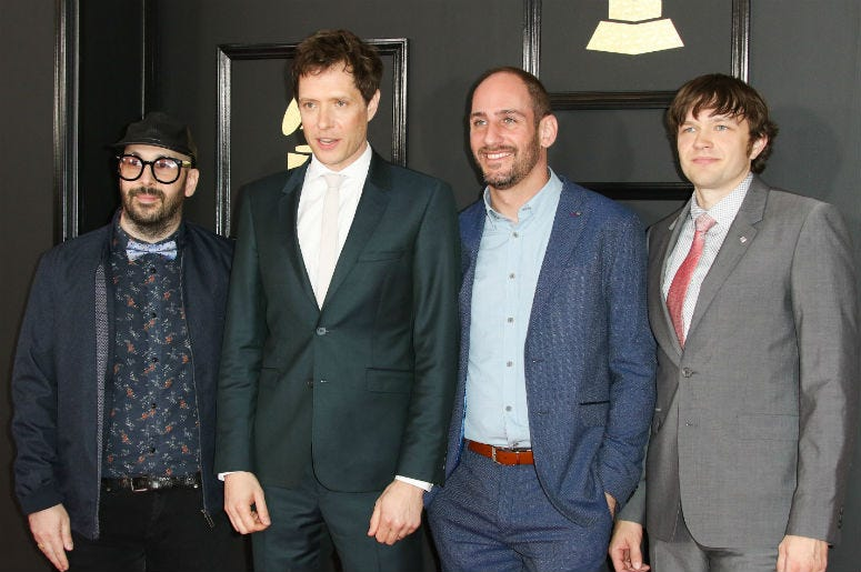 Ok Go at the 59th Annual Grammy Awards held at Staples Center in Los Angeles on Sunday February 12, 2017.