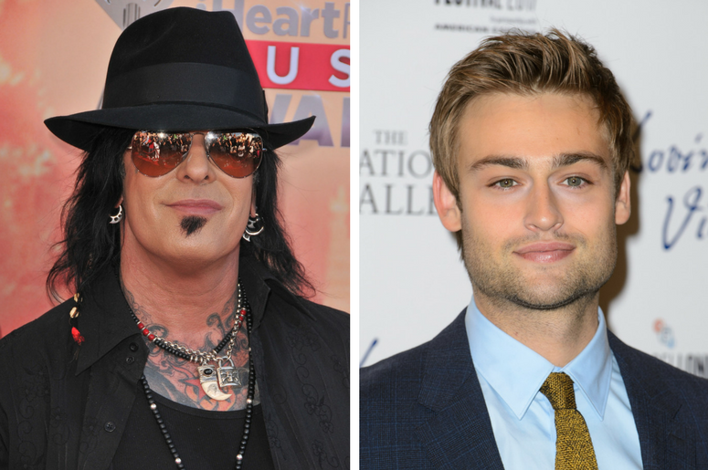 Douglas Booth and Nikki Sixx