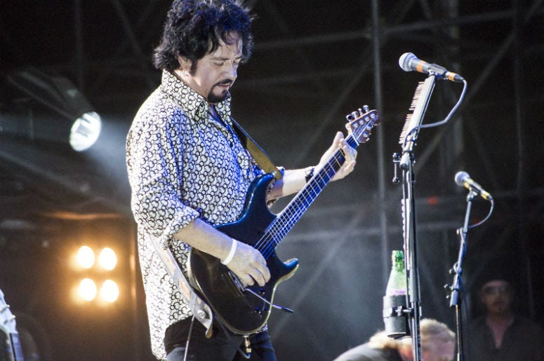 Steve Lukather, guitarist from Toto, live in Rome, Italy, June 21 - 2013