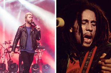 Adam Levine and Bob Marley