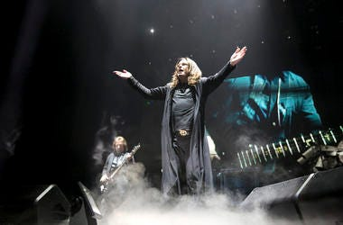 Ozzy Osbourne of Black Sabbath performs at the United Center in Chicago in January 2016