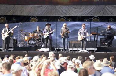 The Doobie Brothers perform at the Classic West at Dodgers Stadium in Los Angeles.