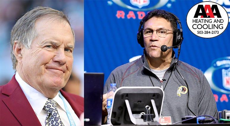 Ron Rivera, Bill Belichick, New England Patriots, Washington Redskins, NFL, Primetime, KFXX-AM
