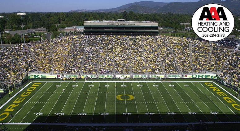 Oregon Ducks Football, Ohio State Buckeyes Football, AAA Heating and Cooling