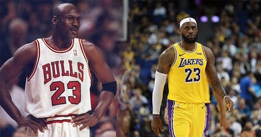 Michael Jordan, Lebron James, NBA