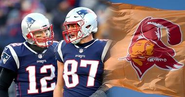 Tom Brady, Rob Gronkowski, Tampa Bay Bucaneers