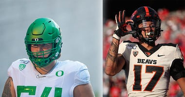 Isaiah Hodgins, Calvin Throckmorton, NFL Draft, Oregon State Beavers, Oregon Ducks, Matt Miller, Dirt and Sprague, KFXX-AM