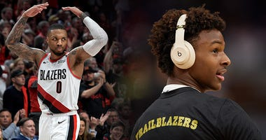 Bronny James, Damian Lillard, Portland Trail Blazers, NBA, basketball, Dusty and Cam in the Morning, 1080 The FAN, KFXX-AM