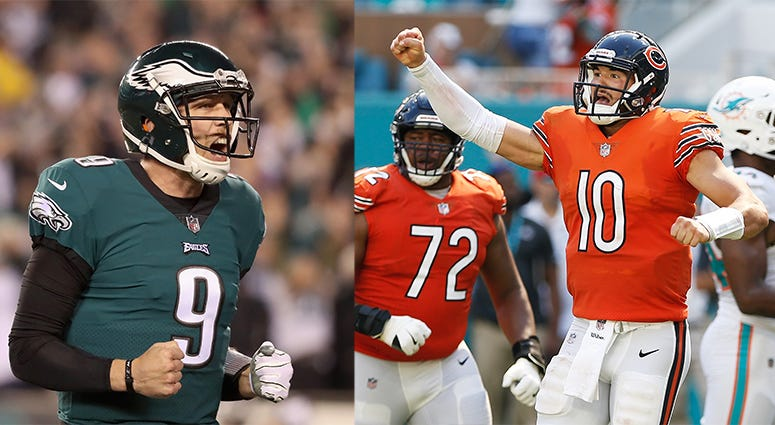 Nick Foles, Mitchell Trubisky, Chicago Bears, NFL