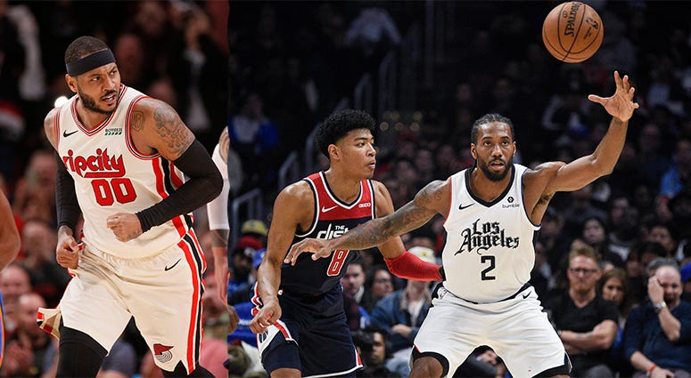 Trail Blazers, Los Angeles Clippers, NBA, Carmelo Anthony