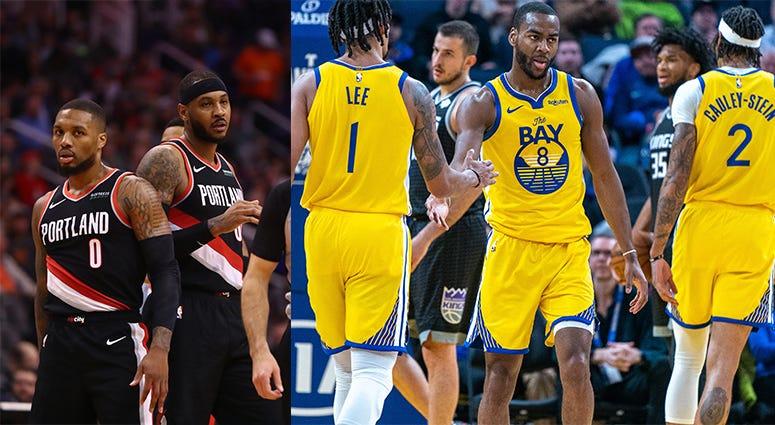 Portland Trail Blazers, Damian Lillard, Golden State Warriors, NBA