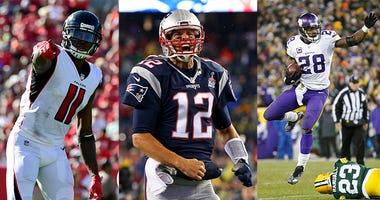 Tom Brady, Julio Jones, Adrian Peterson, NFL
