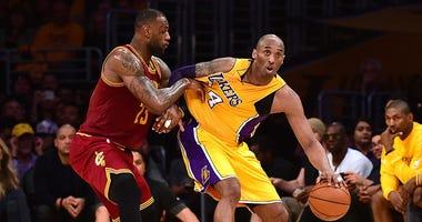 Kobe Bryant, Lebron James, Los Angeles Lakers