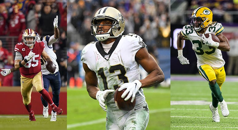 New Orleans Saints, Green Bay Packers, Seattle Seahawks, San Francisco 49ers