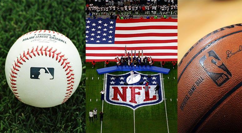 NFL, MLB, NBA, coronavirus