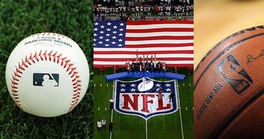 MLB, NFL, NBA