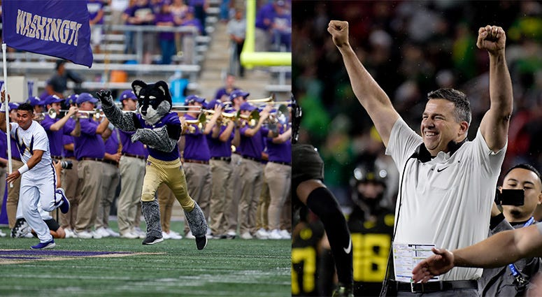 Oregon Ducks, Washington Huskies, Pac-12 Football