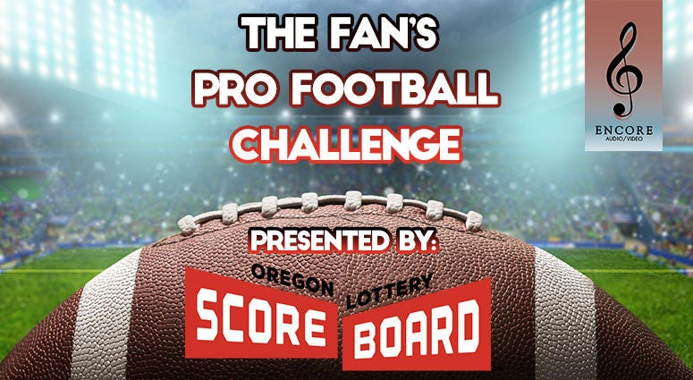 Pro Football Challenge, Oregon Lottery Scoreboard