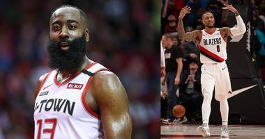 Trail Blazers, Rockets, James Harden, Damian Lillard, NBA