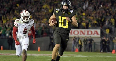 Oregon Ducks Football, Rose Bowl, Justin Herbert