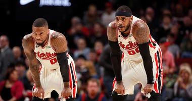 Trail Blazers, Clippers, Damian Lillard, Carmelo Anthony, NBA