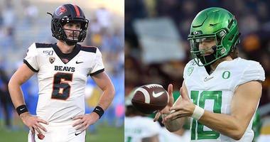 Oregon Ducks Football, Oregon State Beavers Football, Jake Luton, Justin Herbert