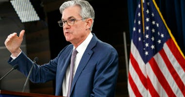 FILE - In this March 3, 2020 file photo, Federal Reserve Chair Jerome Powell speaks during a news conference to discuss an announcement from the Federal Open Market Committee, in Washington. (AP Photo/Jacquelyn Martin, File)