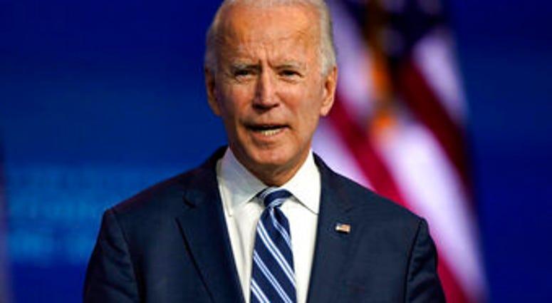 Joe Biden speaks Tuesday, Nov. 10, 2020, at The Queen theater in Wilmington, Del. (AP Photo/Carolyn Kaster)