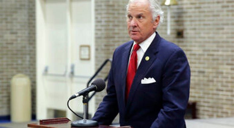 FILE - In this Wednesday, Dec. 2, 2020 file photo, Gov. Henry McMaster gives a news conference in Columbia, S.C. (AP Photo/Jeffrey Collins)