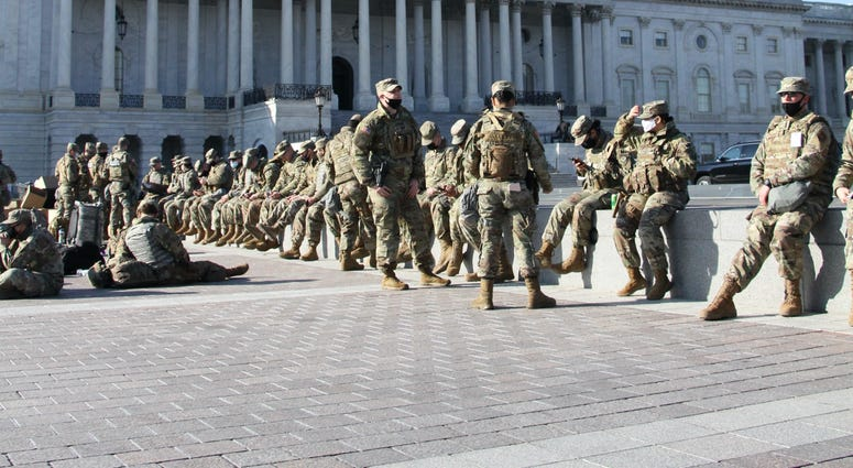 Virginia National Guard troops protect the nation's capital