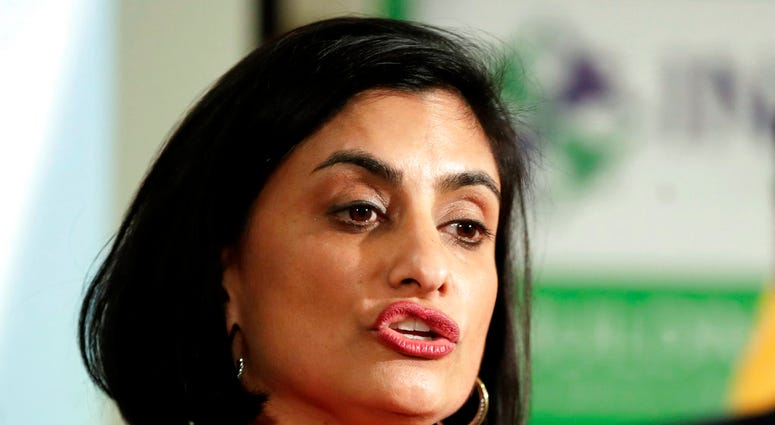 FILE - In this Nov. 29, 2017 file photo, Seema Verma, administrator of the Centers for Medicare and Medicaid Services.(AP Photo/Julio Cortez, File)