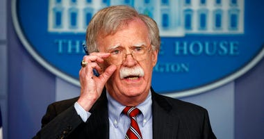 National security adviser John Bolton speaks during the daily press briefing at the White House, Thursday, Aug. 2, 2018, in Washington. (AP Photo/Evan Vucci)