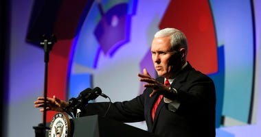 Vice President Mike Pence speaks at the Hidden Heroes 3rd Annual National Convening at the Capital Hilton in Washington, Monday, Nov. 26, 2018. (AP Photo/Manuel Balce Ceneta)