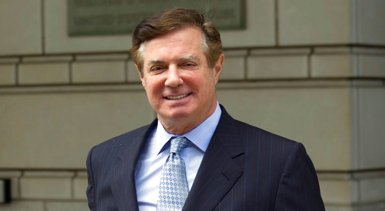FILE - In this Feb. 14, 2018 file photo, Paul Manafort, President Donald Trump's former campaign chairman, leaves the federal courthouse in Washington.  (AP Photo/Pablo Martinez Monsivais, File)
