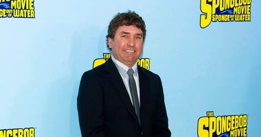 "FILE - In this Jan. 31, 2015 file photo, SpongeBob SquarePants creator Stephen Hillenburg attends the world premiere of ""The SpongeBob Movie: Sponge Out Of Water"" in New York. (Photo by Charles Sykes/Invision/AP, File)"