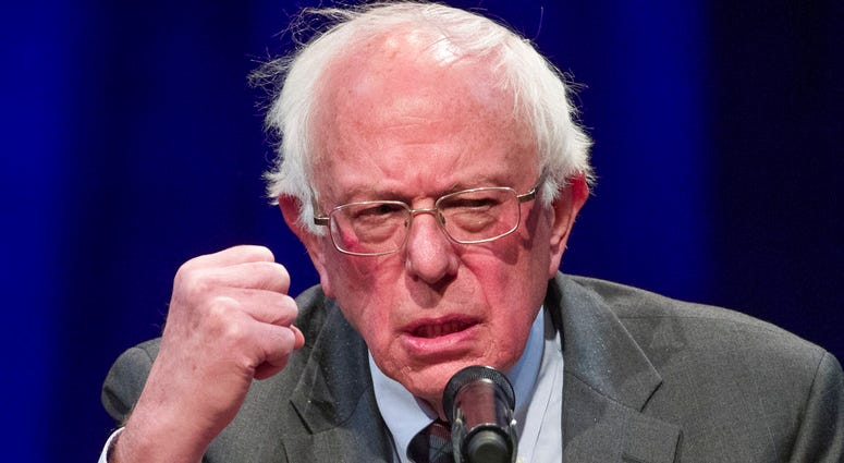 FILE - In this Nov. 27, 2018, file photo, Sen. Bernie Sanders, I-Vt., speaks about his new book, 'Where We Go From Here: Two Years in the Resistance', at a George Washington University/Politics and Prose event in Washington. (AP Photo/Alex Brandon, File)