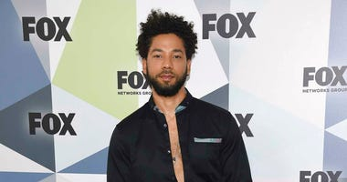 "FILE - In this May 14, 2018 file photo, Jussie Smollett, a cast member in the TV series ""Empire,"" attends the Fox Networks Group 2018 programming presentation afterparty in New York.  (Photo by Evan Agostini/Invision/AP, File)"