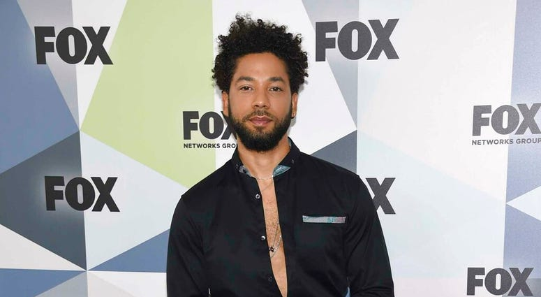 """FILE - In this May 14, 2018 file photo, Jussie Smollett, a cast member in the TV series """"Empire,"""" attends the Fox Networks Group 2018 programming presentation afterparty in New York.  (Photo by Evan Agostini/Invision/AP, File)"""
