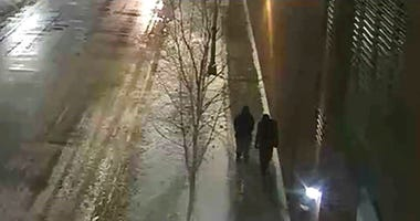 "This image provided by the Chicago Police Department and taken from surveillance video shows two people of interest in an attack on ""Empire"" actor Jussie Smollett. (Courtesy of Chicago Police Department via AP)"