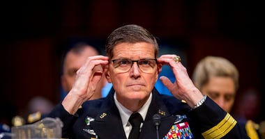 U.S. Central Command Commander Gen. Joseph Votel testifies before a Senate Armed Services Committee hearing on Capitol Hill, Tuesday, Feb. 5, 2019, in Washington.  (AP Photo/Andrew Harnik)